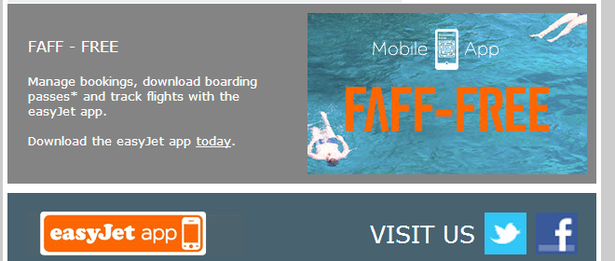 easyjet email app download cta