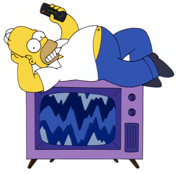 homer on a tv