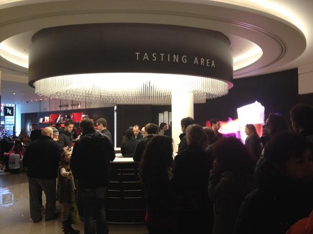 tasting area nespresso