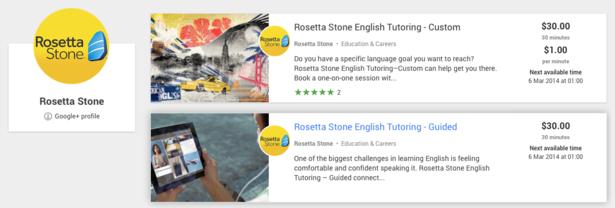 Rosetta Stone Helpouts