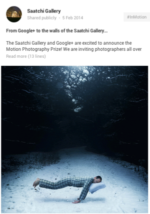 Saatch Gallery Motion Photography Prize