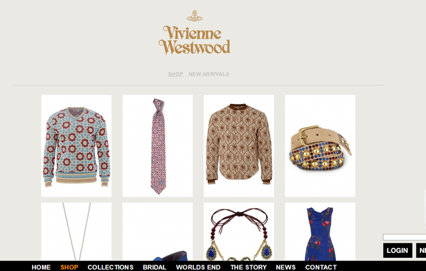 vivienne westwood simple category pages