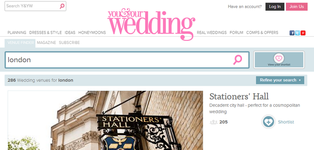 you and your wedding venue finder