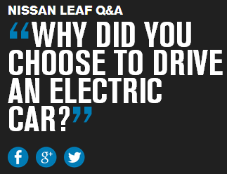 why did you choose to buy an electronic car? - Nissan