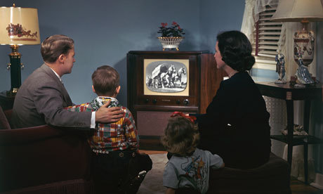 1950s family television