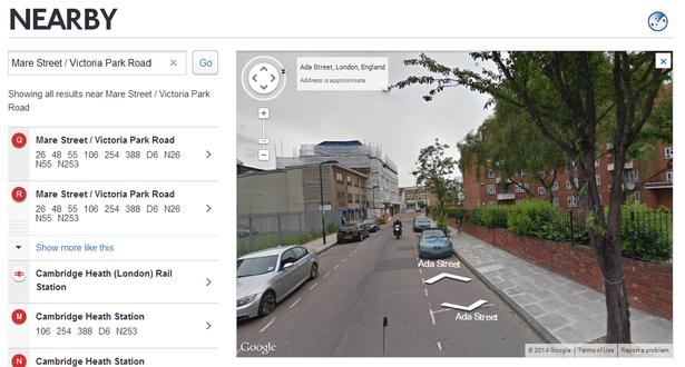 tfl google maps