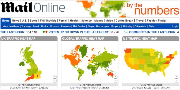mail online traffic heatmap