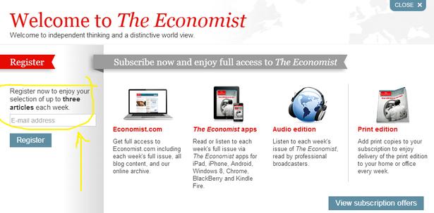economist free content