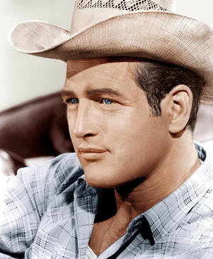 paul newman white cowboy hat