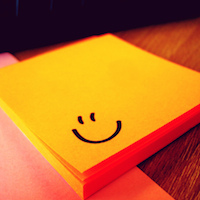 Smiley post it note