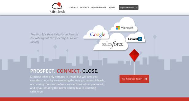 kitedesk website on desktop