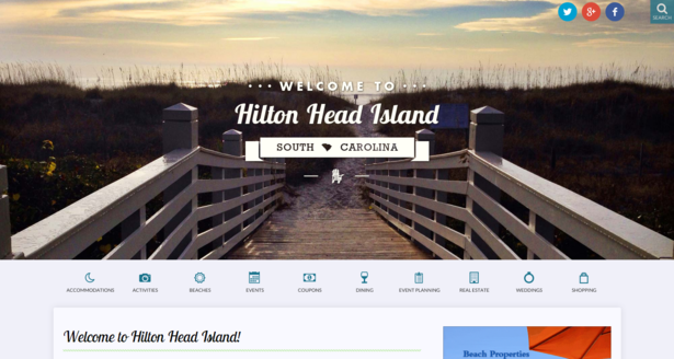 hiltonhead.com on desktop