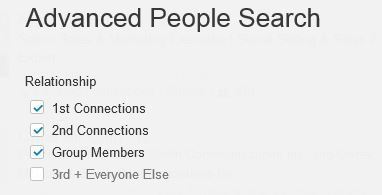LinkedIn advanced people search feature