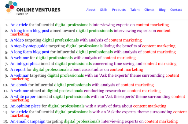 content marketing ideas five key tools and one killer tip