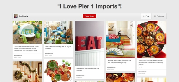 i love pier 1 imports - pinterest board