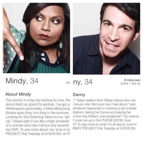 The Mindy Project Tinder Profiles