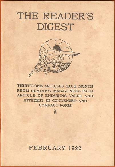 reader's digest 1922