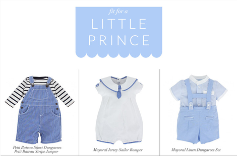 fit for a little prince - clothing range
