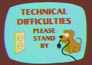 simpsons technical difficulties