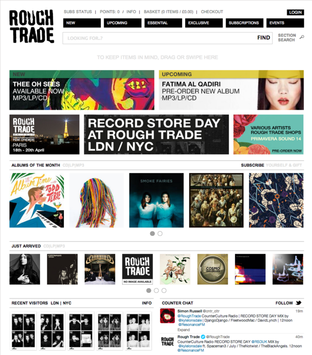 Eight record stores that need responsive design, plus two