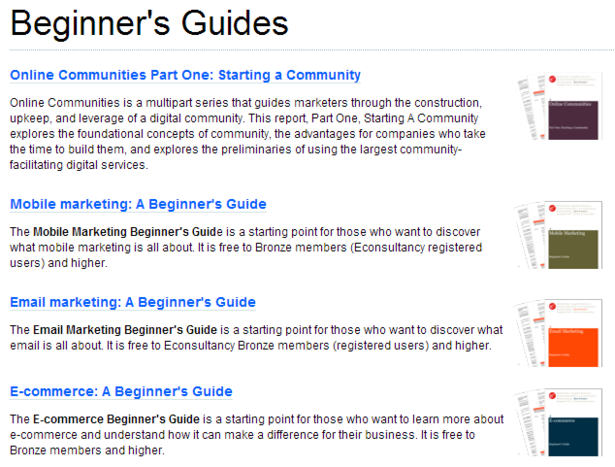 econsultancy beginners guides