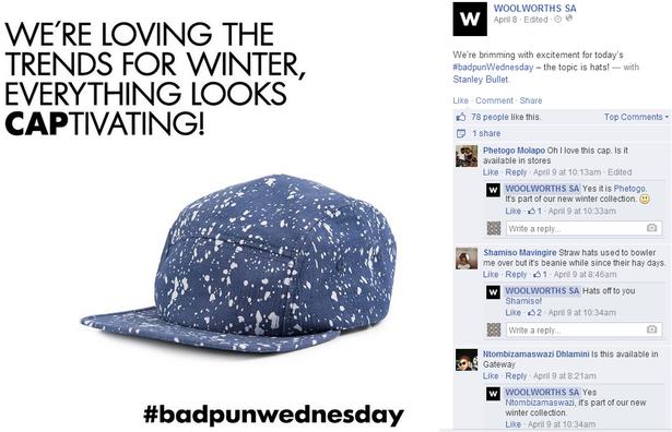 woolworths SA - bad pun wednesday