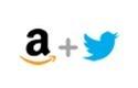 Amazon and Twitter logos