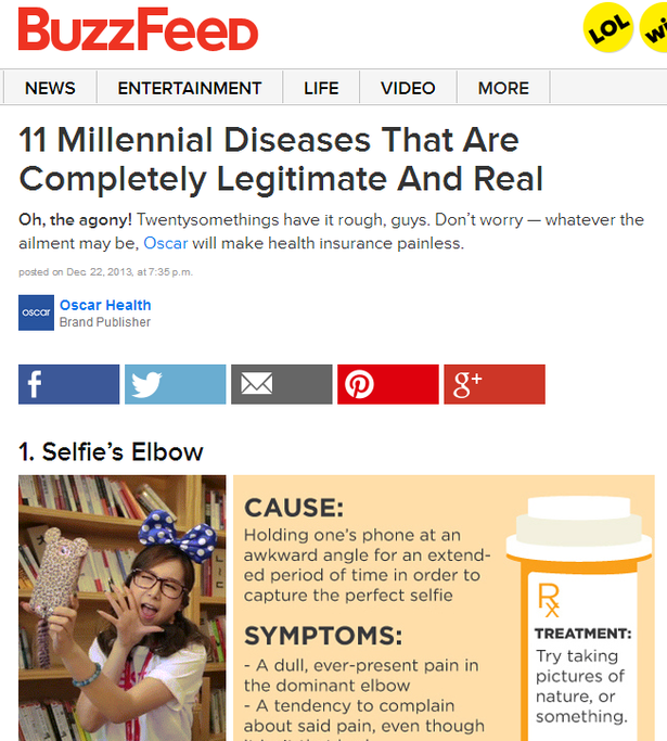oscar health on buzzfeed