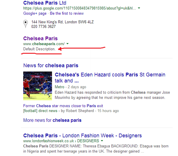 chelsea paris metadescription