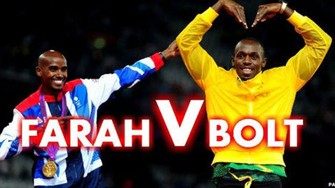 Mo Farah vs. Usain Bolt