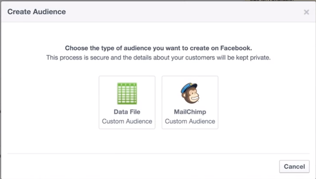 create custom audience facebook