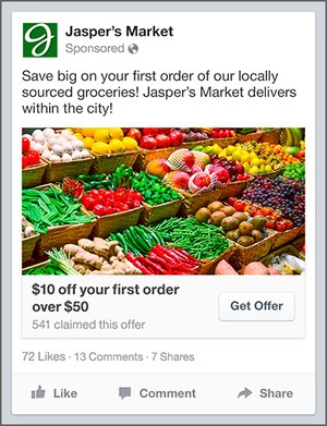 facebook - get offer ad