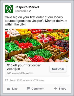 facebook - get offer ad