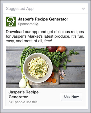 facebook app download ad in mobile