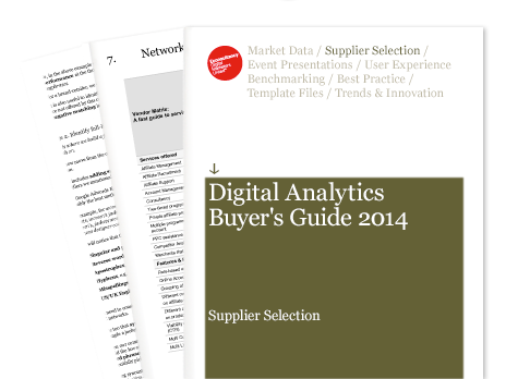 Econsultancy Digital Analytics Buyer's Guide