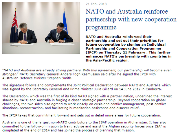 nato aussie agreement