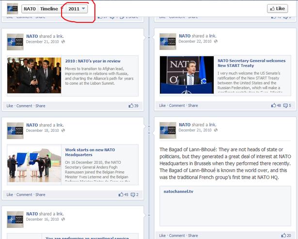 nato facebook 2011