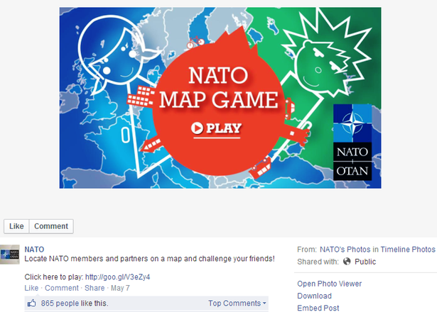 nato map game on facebook