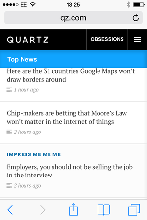 quartz on mobile