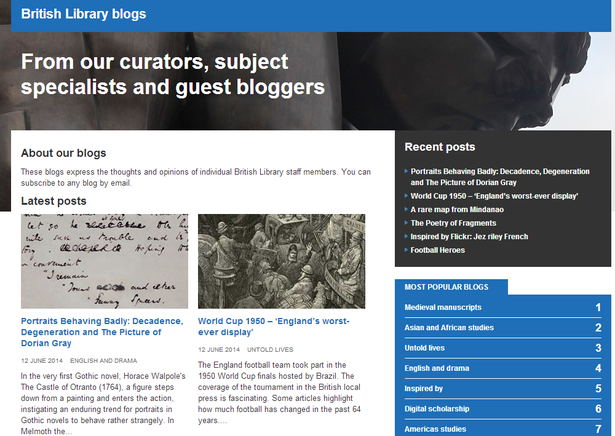 collection blogs - british library