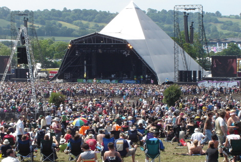 The Pyramid Stage at Glastonbury