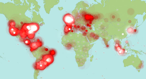 global tweet heat map