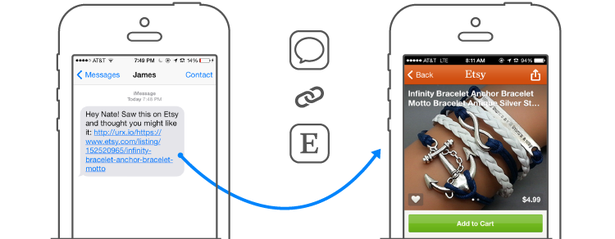 deep linking to etsy app