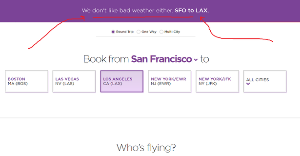 micro-interactions on virgin america website