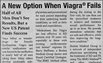 Viagra alternative advertorial