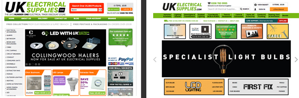 UK Electrical Supplies Site Relaunch
