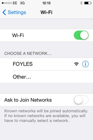 wifi foyles