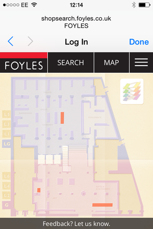 foyles map mobile