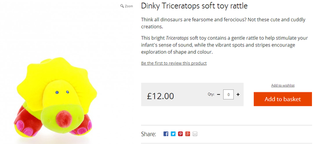 dinky triceratops
