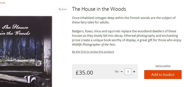 house in the woods product page